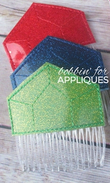 Currency Jewel Inspired Hair Comb Topper
