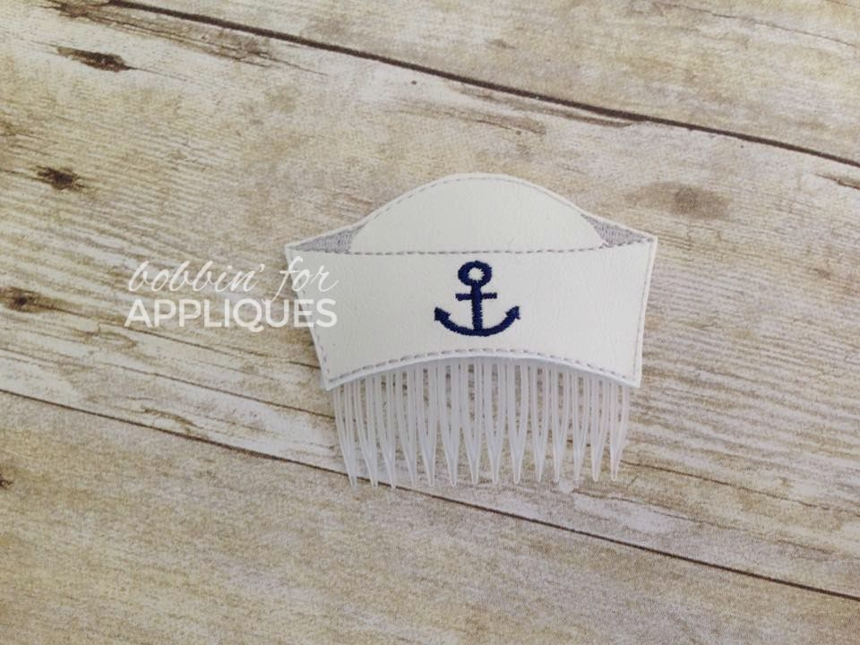 Sailor Hat Hair Comb Topper