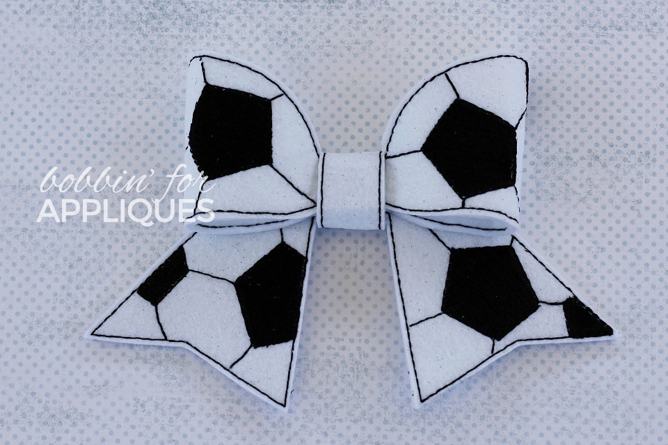 Soccer Ball Cheer BIG BOW project ITH