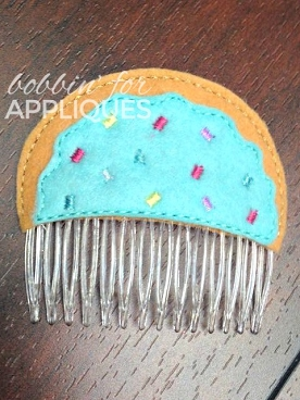 Sugar Cookie Hair Comb Topper