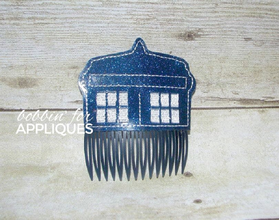 Police Box Inspired Hair Comb Topper