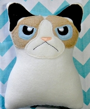 Unhappy Feline Stuffie Stuffed Toy ITH
