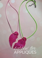 Best Friend Heart Pendants ITH