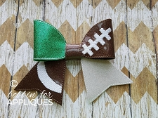 Football themed Cheer BIG BOW project ITH