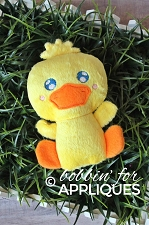 Kawaii Duck Stuffie In The Hoop Design