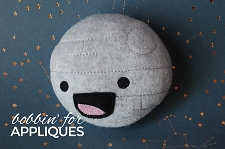 Non Moon Inspired Happy Ship Stuffie In The Hoop Design