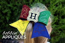 School Crest Inspired Cheer Bow BIG BOW project ITH