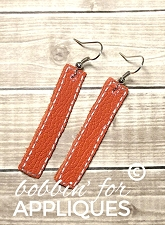 Leather Strip Stackable Earrings ITH