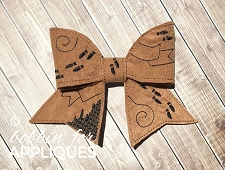Mischief Map Inspired Cheer Bow BIG BOW project ITH
