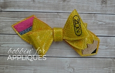 Pencil Pinwheel Style Basic Bow project ITH