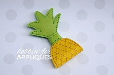 Pineapple One Loop ITH Felt Bow