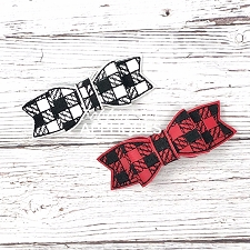 Plaid Motif ITH Hair Bow