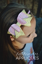 Quad Stacked Basic Bow ITH Hair Bow
