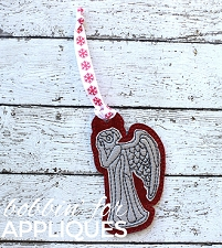Crying angel inspired ITH Ornament