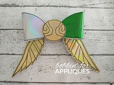 Golden Flyer Inspired Cheer Bow BIG BOW project ITH