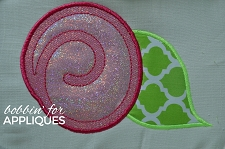 Applique Swirled Flower Machine Embroidery Designs