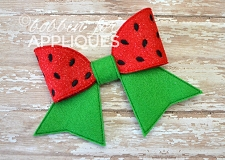 Watermelon Cheer Style BIG BOW project ITH