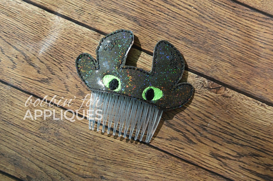 Tooth Dragon Inspired Hair Comb Topper