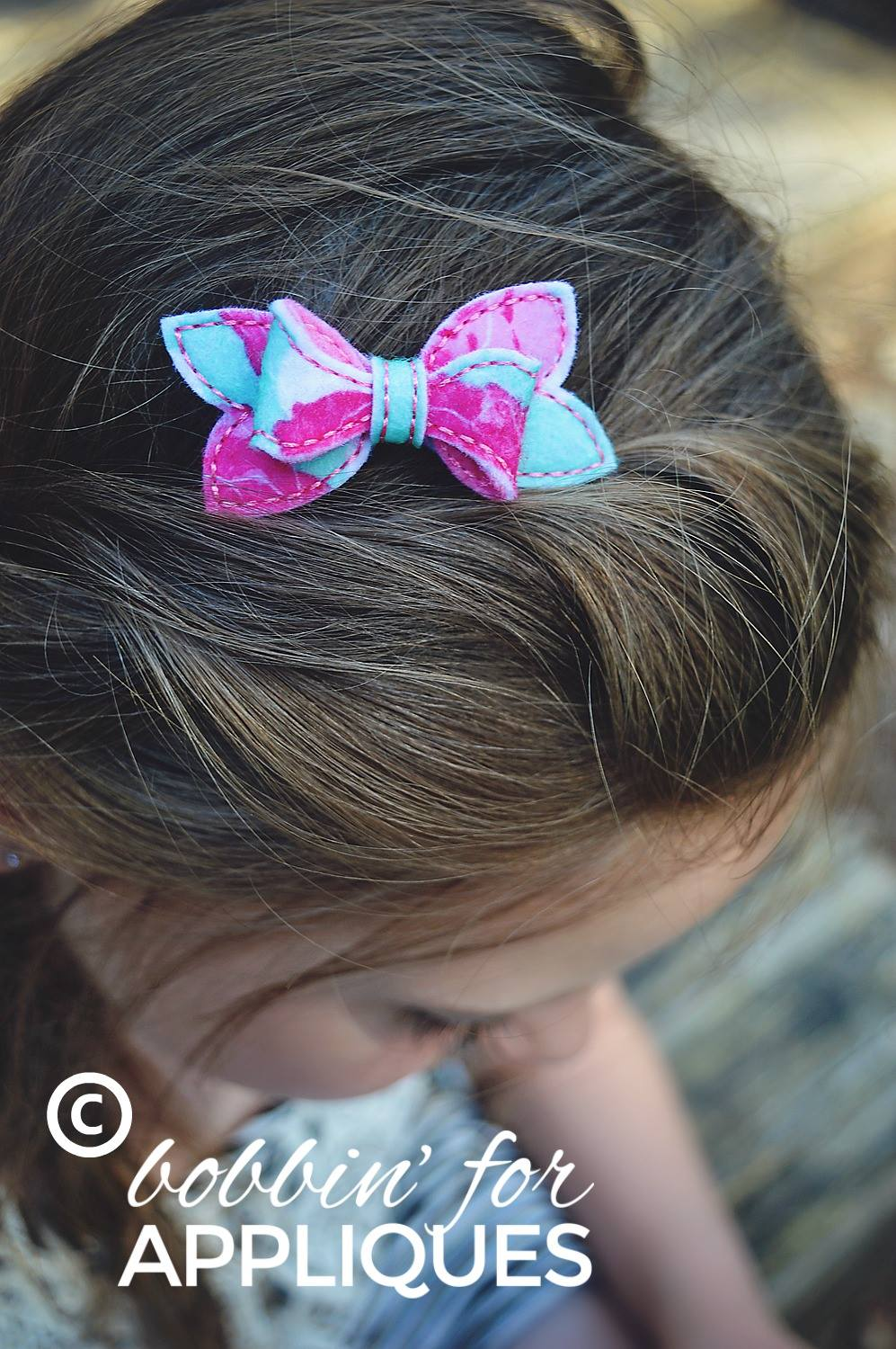 Twisted Color Pop Basic Bow ITH 3D Felt Bow