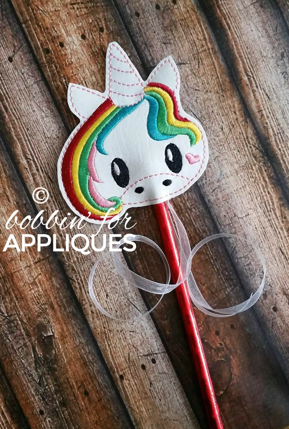 Unicorn Play Wand Rainbow and Solid Hair Files