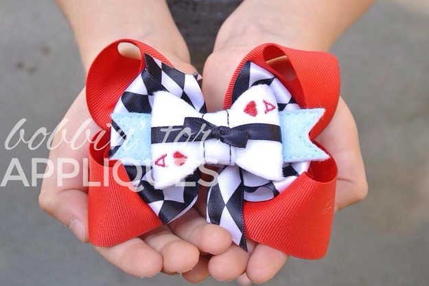 Aces In Wonderland Inspired Felt Bow