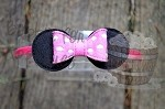 Miss Mouse Inspired Bow