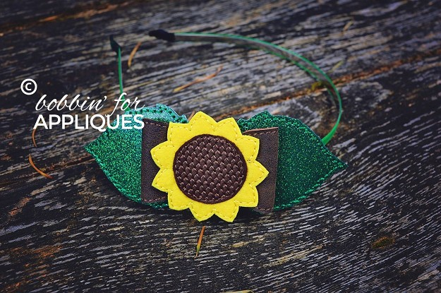 Sunflower Bow project ITH