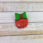 Apple ITH Felt Bow
