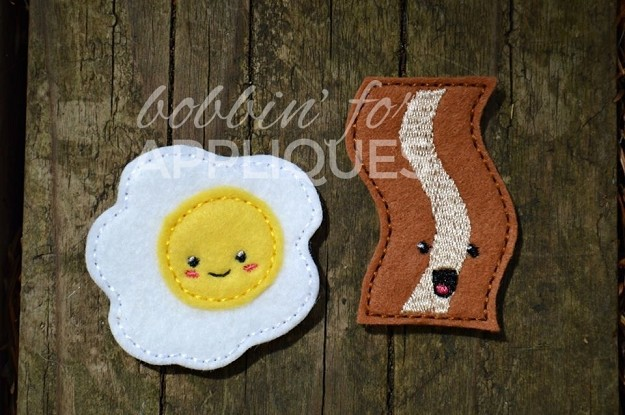 Kawaii Bacon And Egg Feltie Set