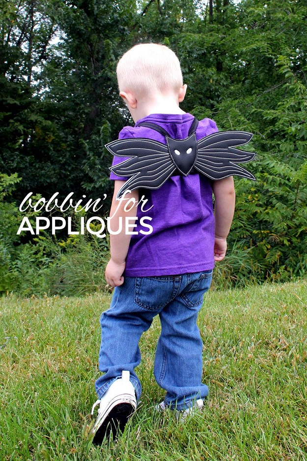 Skelly Skeleton Inspired Halloween Dress Up Wings ITH Project
