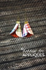 Fabric Cone Earrings ITH Project