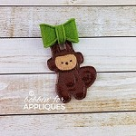 Hanging Monkey ITH Felt Bow