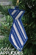 Class Tie inspired ITH Ornament