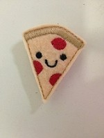 Kawaii Pizza Feltie Embroidery Design File