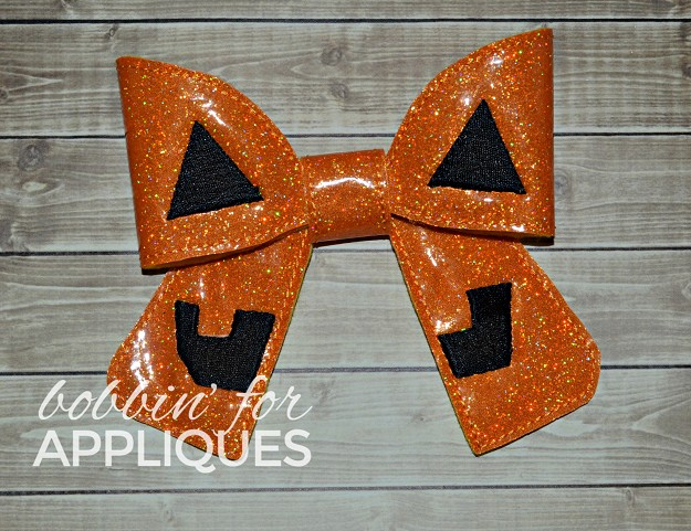 Jack O Cheer Bow BIG BOW project ITH