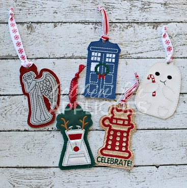 Doctor inspired ITH Ornaments Bundle