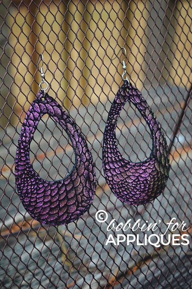 Cut Out Tear Drop Earrings ITH Project