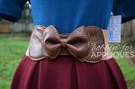 Bow Belt ITH In the Hoop Belt Pattern/Design