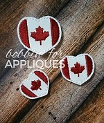 Canadian Flag Heart Felties
