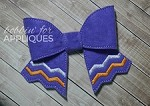 Chevron Stripe Cheer Bow BIG BOW project ITH