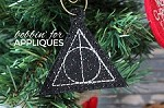 HP Hallows inspired ITH Ornament
