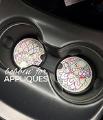 Mandala Car Coaster Cup Holder Liner ITH