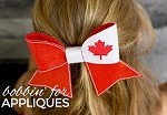 Canadian Flag Cheer BIG BOW project ITH