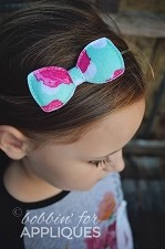 Padded Basic Felt Bow ITH In the Hoop Embroidery Design (3 sizes)