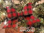 Plaid Motif Cheer Bow BIG BOW project ITH
