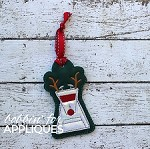 Robot Dog Reindeer inspired ITH Ornament