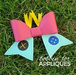 Rag Doll Friend inspired Cheer Bow BIG BOW project ITH