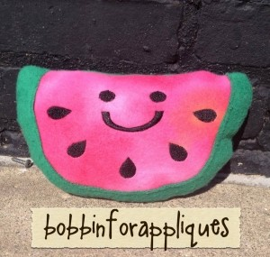 Happy Plush Watermelon ITH In the Hoop Stuffed Toy