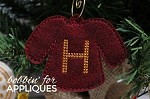 Holiday Sweater inspired ITH Ornament